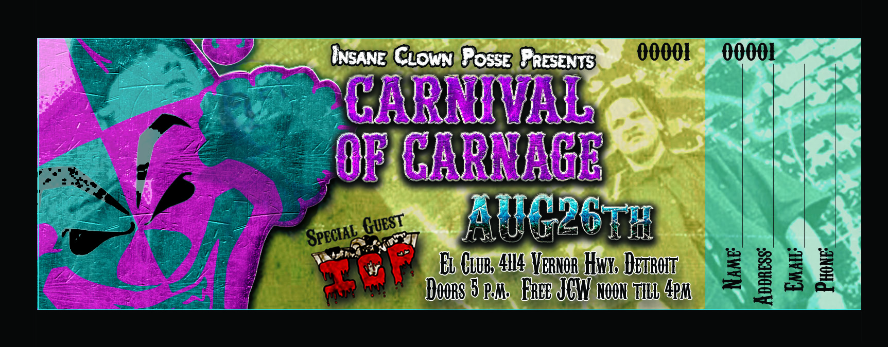 ICP Carnival Show Ticket