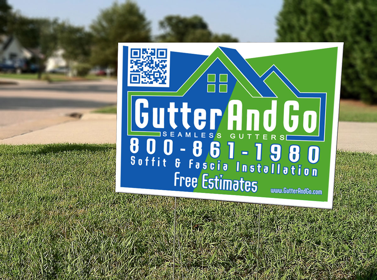Gutter and Go Lawn Sign