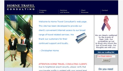 Horne Travel Consulting '01